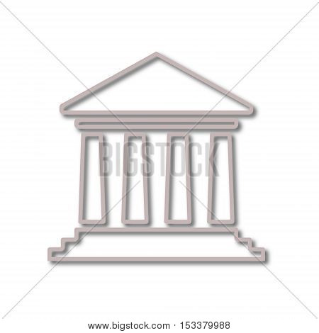Bank building icon, Court building icon on white background