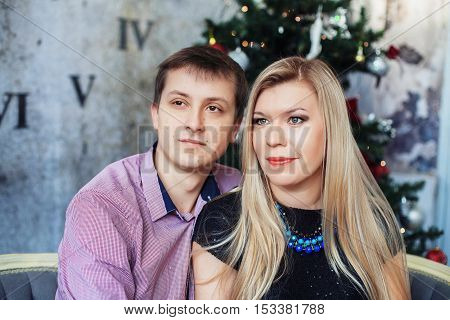 love couple spends time together at Christmas