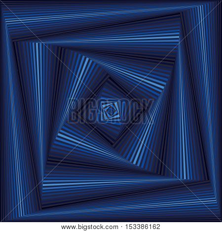 Whirling Sequence With Blue Square Forms