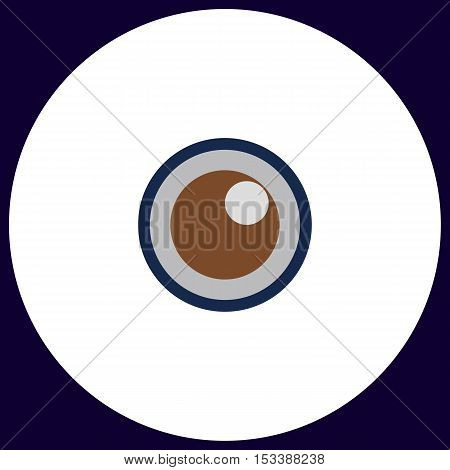 pupil Simple vector button. Illustration symbol. Color flat icon