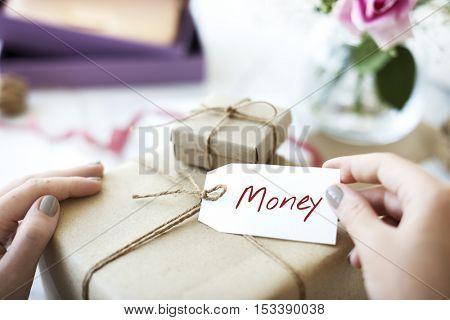 Money Word Write Handwriting Note Concept
