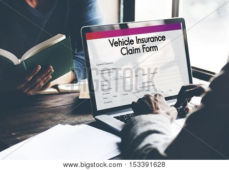Vehicle Insurance Claim Form Concept