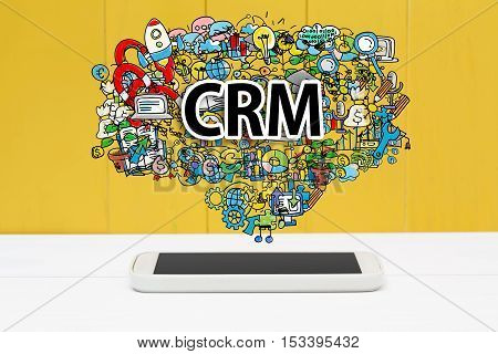 Crm Concept With Smartphone
