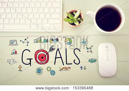 Goals Concept With Workstation