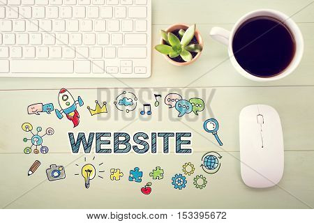 Website Concept With Workstation