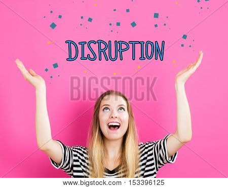 Disruption Concept With Young Woman