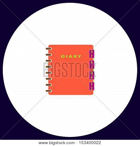 Organizer Simple vector button. Illustration symbol. Color flat icon