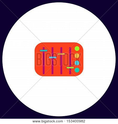 Sound Mixer Simple vector button. Illustration symbol. Color flat icon