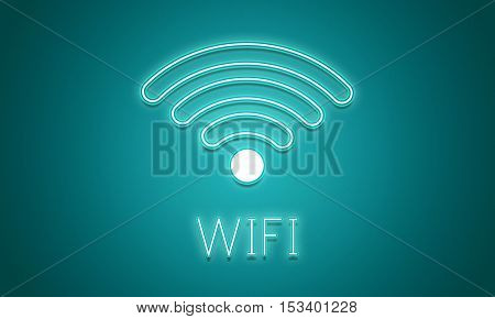 Online Network Wifi COmmunication Icon Concept