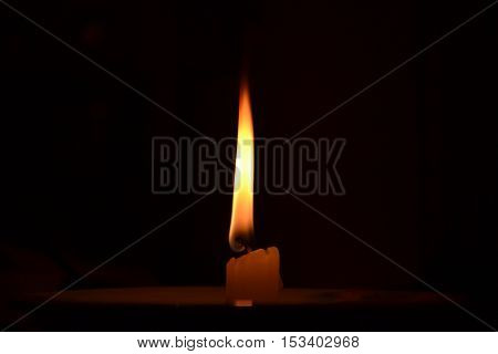 Candle flame expressing romance and intimacy and spirituality
