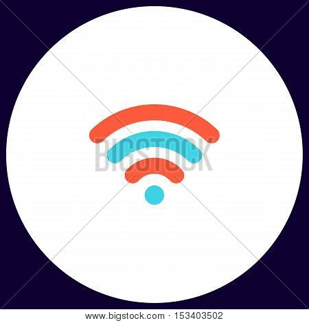 wireless zone Simple vector button. Illustration symbol. Color flat icon