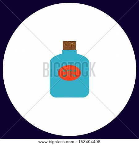Poison Simple vector button. Illustration symbol. Color flat icon