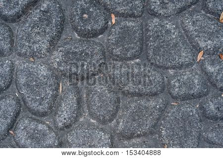 Looking Down At Cobble Stone Texture