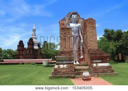 Wat Maha That in the old Sukhothai Kingdom  at Muangboran the ancient city,Thailand.