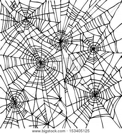 Halloween web background 301-Wt. Eau-forte black-and-white decorative texture vector illustration.