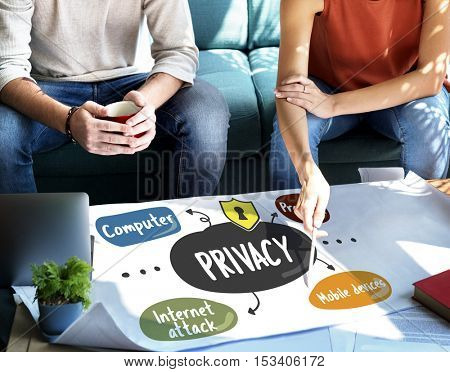 Protection Privacy Word Diagram Concept