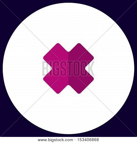 rejected Simple vector button. Illustration symbol. Color flat icon