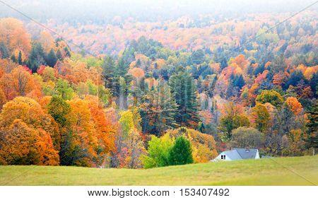 Scenic landscape near Corinth Vermont