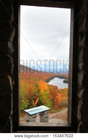 Groton state forest Owls head view from open window in Vermont