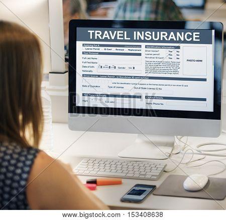 Travel Insurance Form Transportation Concept