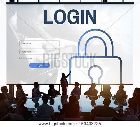 Log In User Password Register Concept