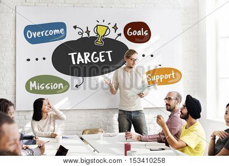 Business Goals Mission Word Diagram Concept