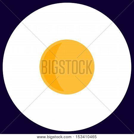 lunation Simple vector button. Illustration symbol. Color flat icon