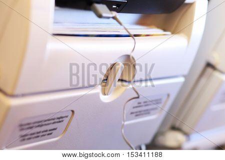 Lock Of White Passenger Airplane Table