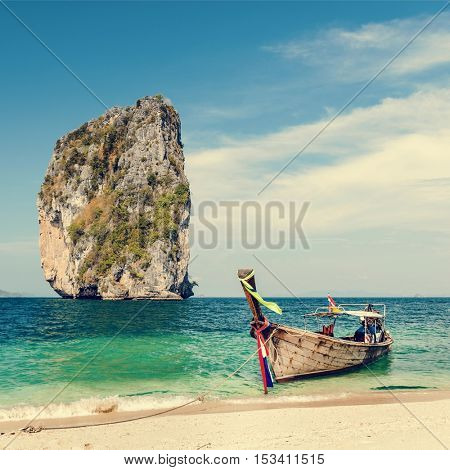 Water Taxi Beach Island Vessel Tropical Ship Concept