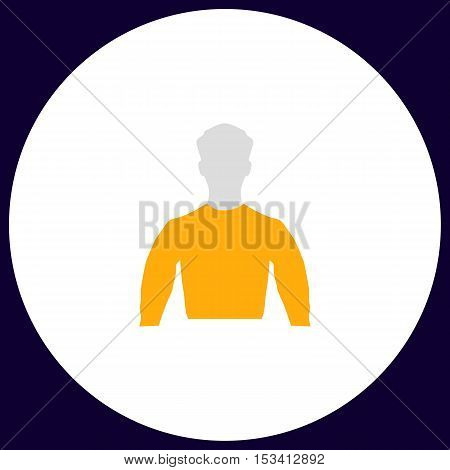 Unknown male Simple vector button. Illustration symbol. Color flat icon