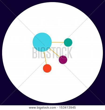 satellite Simple vector button. Illustration symbol. Color flat icon