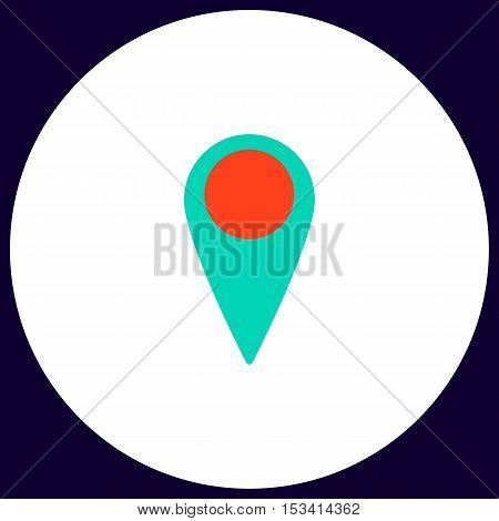 Mark Simple vector button. Illustration symbol. Color flat icon