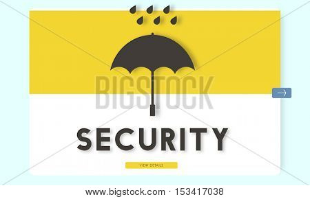 Security Safety  Privacy Protection Concept