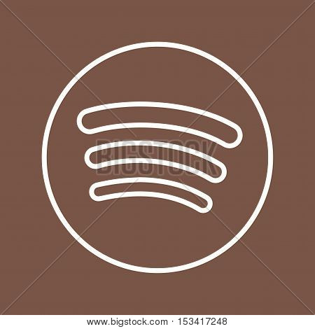 Spotify, internet, app icon vector image. Can also be used for social media logos. Suitable for mobile apps, web apps and print media.