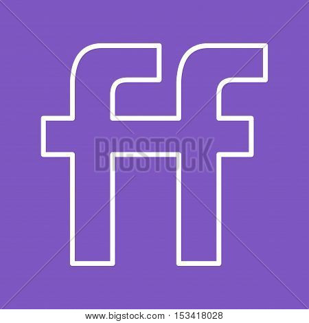 Friendfeed, app, mobile icon vector image. Can also be used for social media logos. Suitable for mobile apps, web apps and print media.