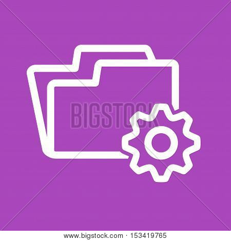 Folder, file, setting icon vector image. Can also be used for software development. Suitable for mobile apps, web apps and print media.