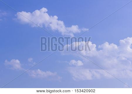 Clouds with blue sky , texture and background