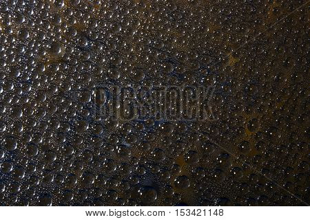 Abstract of water drops on the glass surface