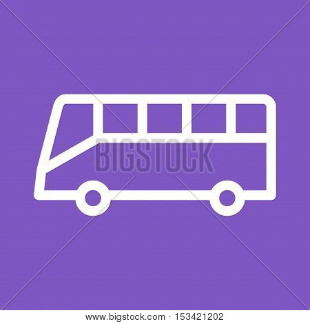 Bus, vehicle, tour icon vector image. Can also be used for travel. Suitable for use on mobile apps, web apps and print media.