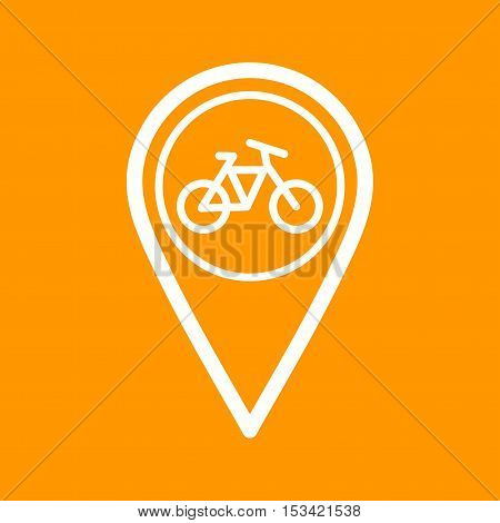 Location, cycle, cycling icon vector image. Can also be used for travel. Suitable for use on web apps, mobile apps and print media.