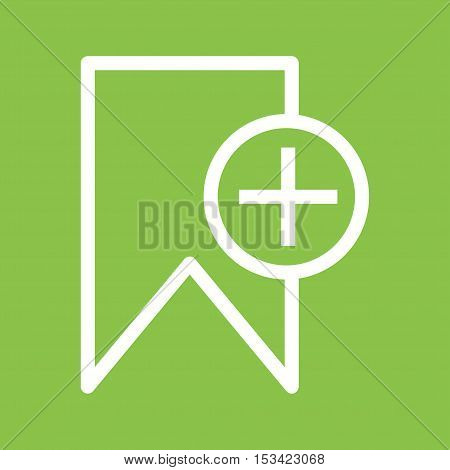 Bookmark, document, sticker icon vector image. Can also be used for user interface. Suitable for mobile apps, web apps and print media.