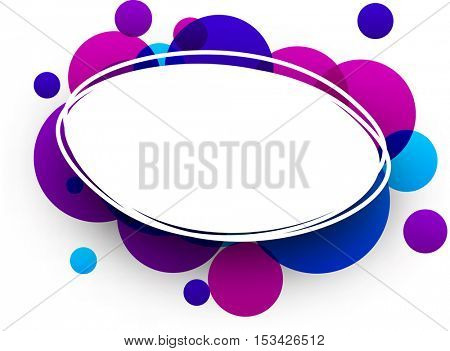 Paper blue and purple oval abstract background. Vector illustration.