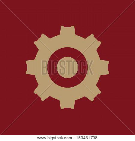 The gear icon. Settings symbol. Flat Vector illustration