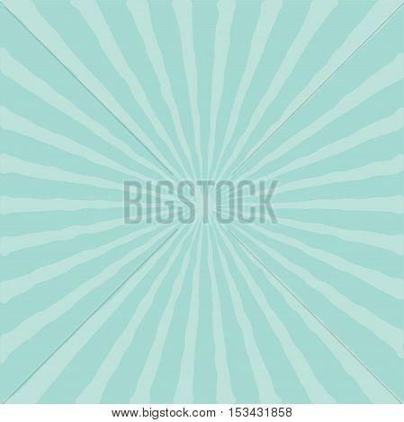 Blue sunburst starburst with ray of light. Template background Flat design. Vector illustration