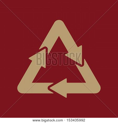 The waste processing icon. Bio symbol. Flat Vector illustration