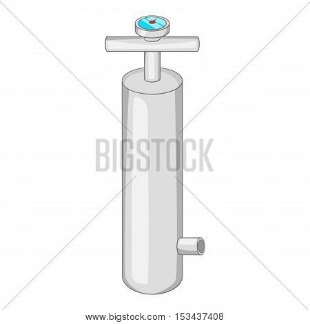 Pump with pressure gauge icon. Cartoon illustration of pump vector icon for web design