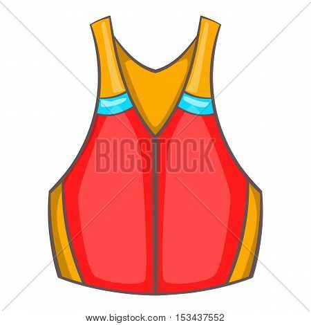 Life vest icon. Cartoon illustration of life vest vector icon for web design