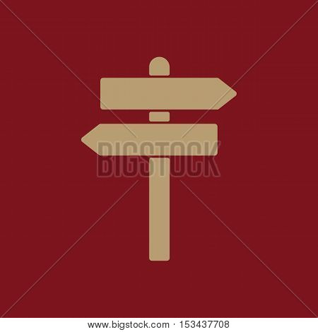 The signpost icon. Pointer symbol. Flat Vector illustration