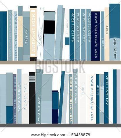 Bookshelves with books. Flat design. Vector illustration