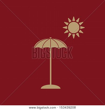 The parasol icon. Vacation symbol. Flat Vector illustration